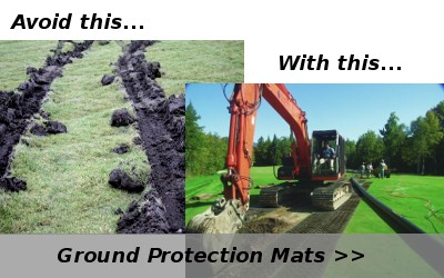 Before and after ground protection